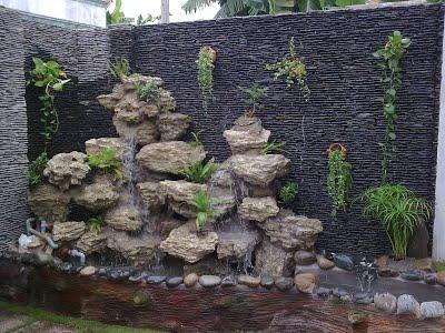 cách làm thác nước trên tường