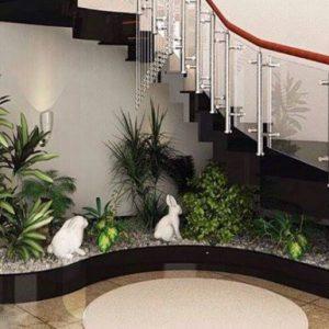 tiểu cảnh gầm cầu thang đơn giản