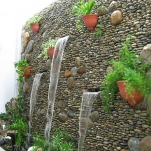 tiểu cảnh thác nước trên tường